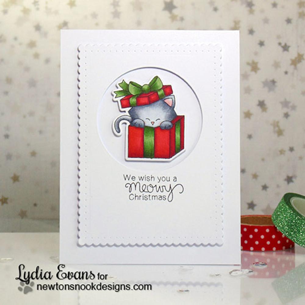 Newton's Christmas Cuddles | 4x6 Photopolymer Stamp Set | ©2015 Newton's Nook Designs