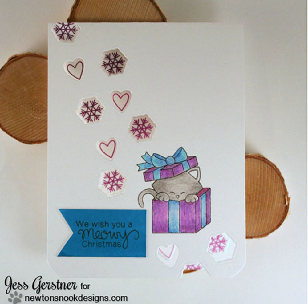 Newton's Christmas Cuddles | 4x6 Photopolymer Stamp Set | ©2015Newton's Nook Designs