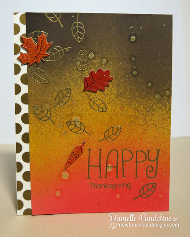 Happy Thanksgiving Card | Simply Seasonal | 4x6 Photopolymer Stamp Set | ©2015 Newton's Nook Designs