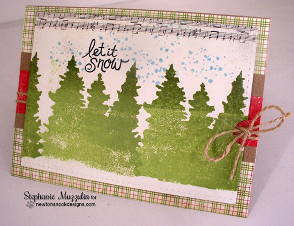 Whispering Pines | 4x6 Photopolymer Stamp Set | ©2015 Newton's Nook Designs