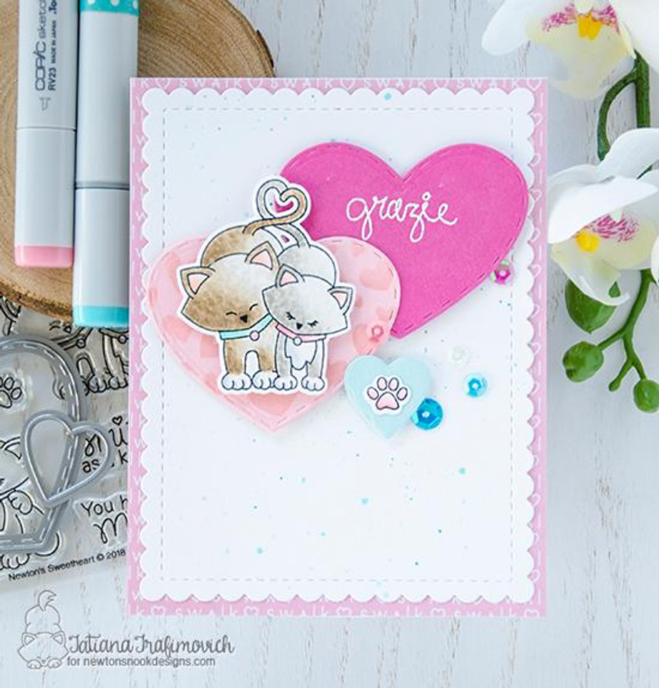 Darling Hearts Die Set ©2016 Newton's Nook Designs