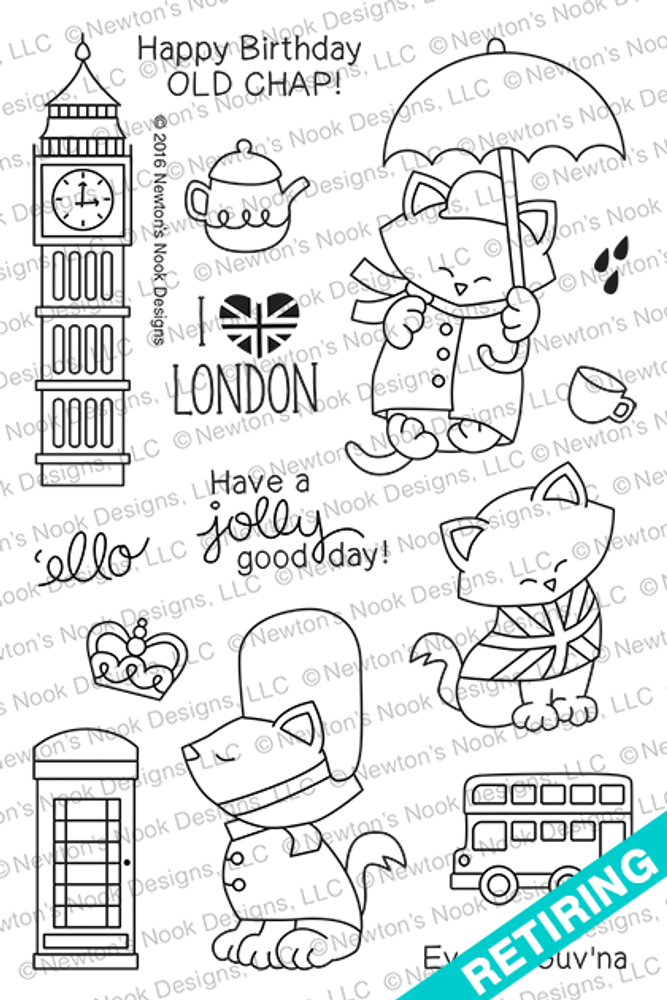 Newton Dreams of London Stamp set ©2016 Newton's Nook Designs