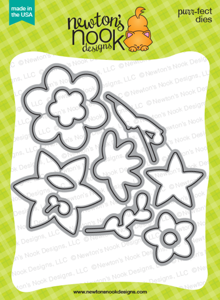 Beautiful Blossoms Die set ©2016 Newton's Nook Designs