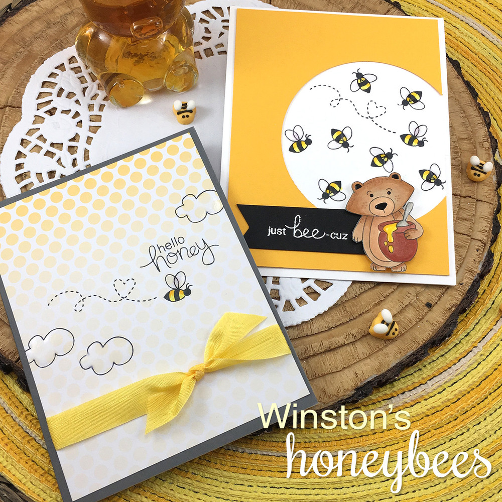 Winston's Honeybees Stamp Set by©2016 Newton's Nook Designs