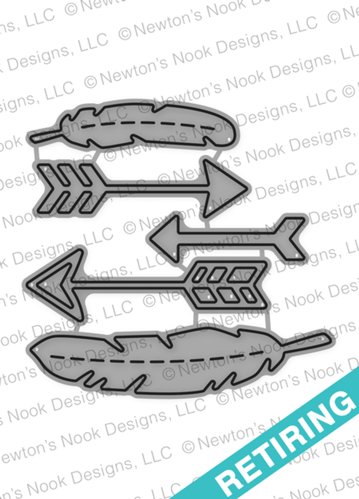 Points & Plumes Die set ©2016 Newton's Nook Designs