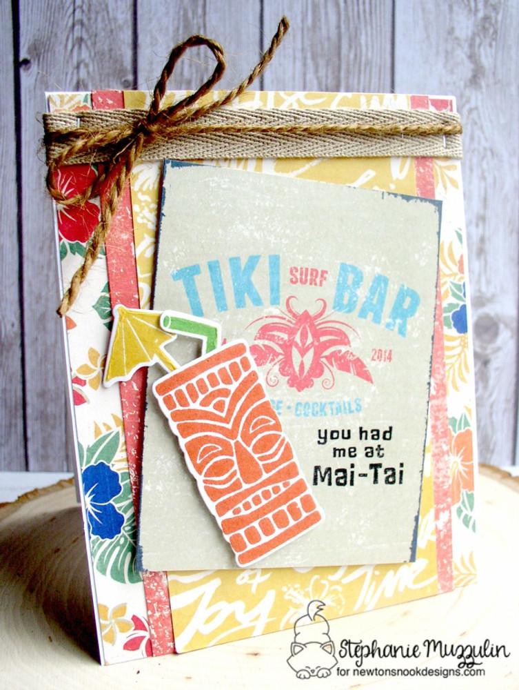 Tiki Time Stamp Set ©2016 Newton's Nook Designs