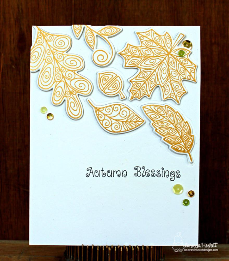 Beautiful Leaves Stamp Set ©2016 Newton's Nook Designs