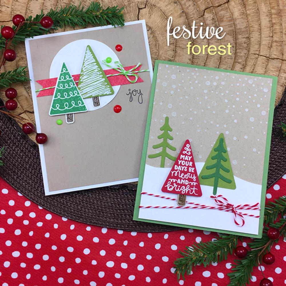 Festive Forest Stamp Set ©2016 Newton's Nook Designs