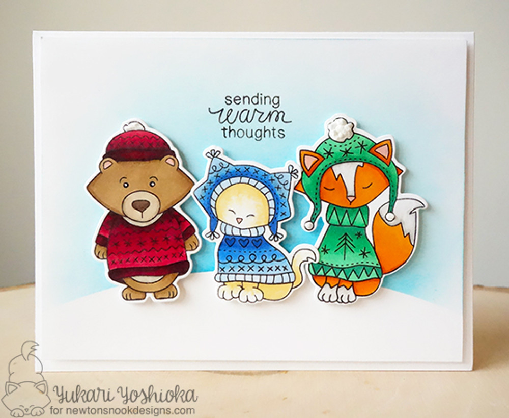 Sweater Weather Stamp Set ©2016 Newton's Nook Designs
