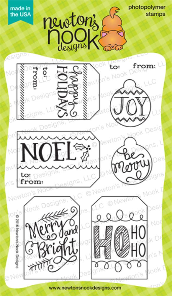 Joyful Tags Stamp Set ©2016 Newton's Nook Designs