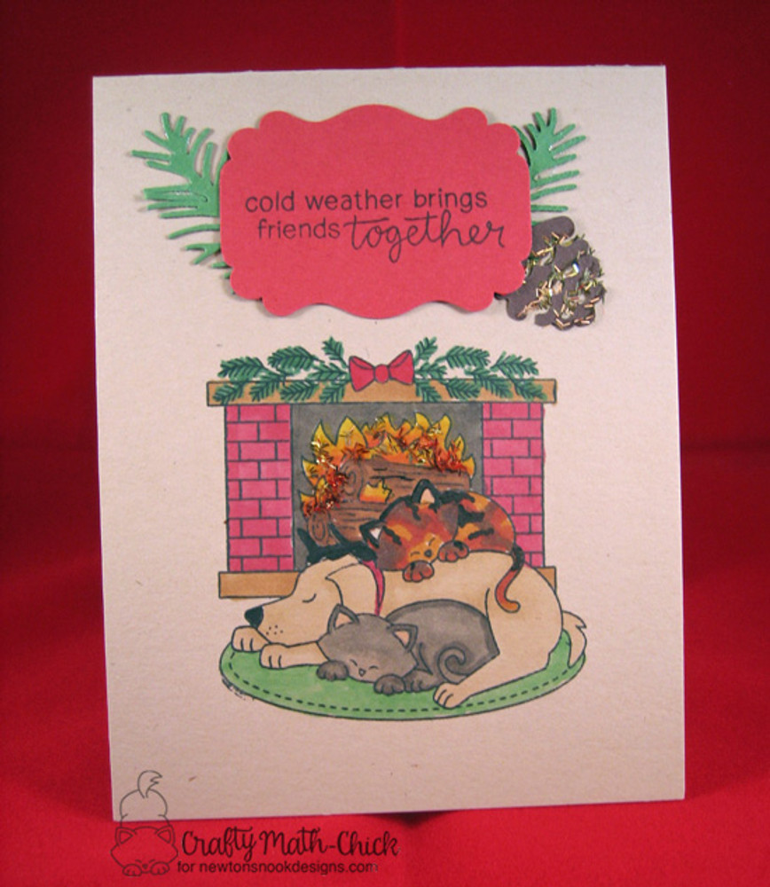Fireside Friends Stamp Set ©2016 Newton's Nook Designs