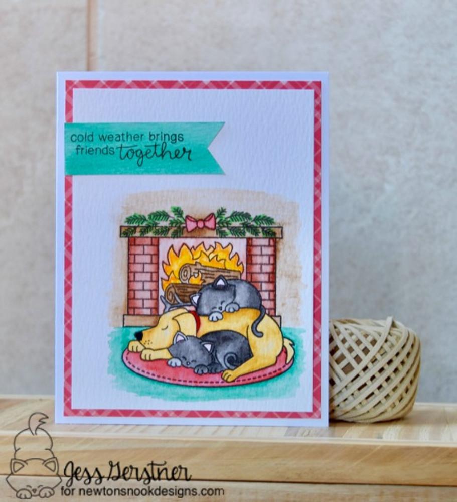 Fireside Friends Stamp Set ©2016 Newton's Nook Designs