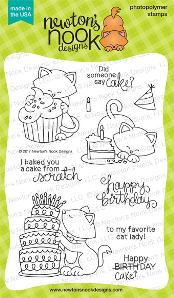 Newton Loves Cake Stamp Set ©2017 Newton's Nook Designs