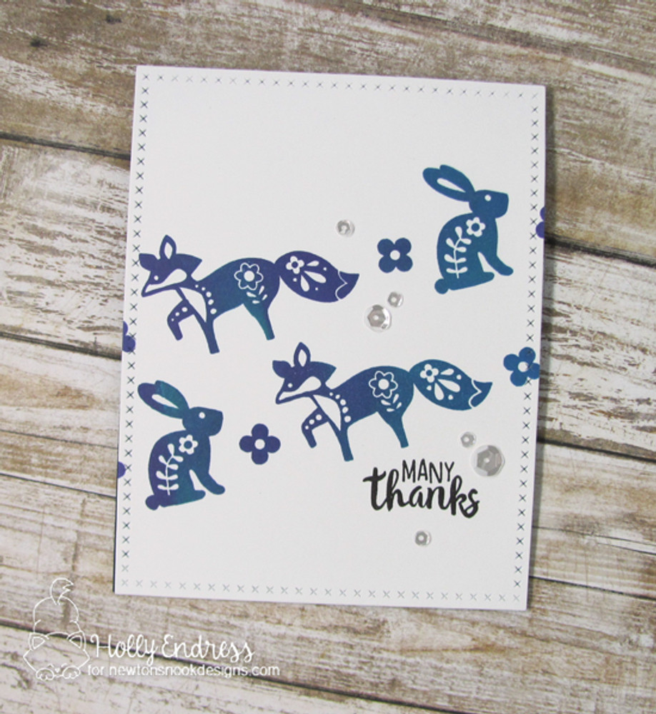 Cottage Garden Stamp Set ©2017 Newton's Nook Designs