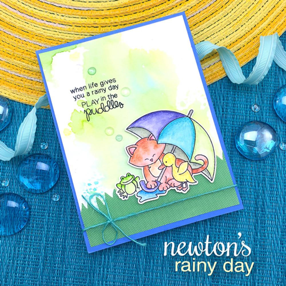 Newton's Rainy Day Stamp Set ©2017 Newton's Nook Designs