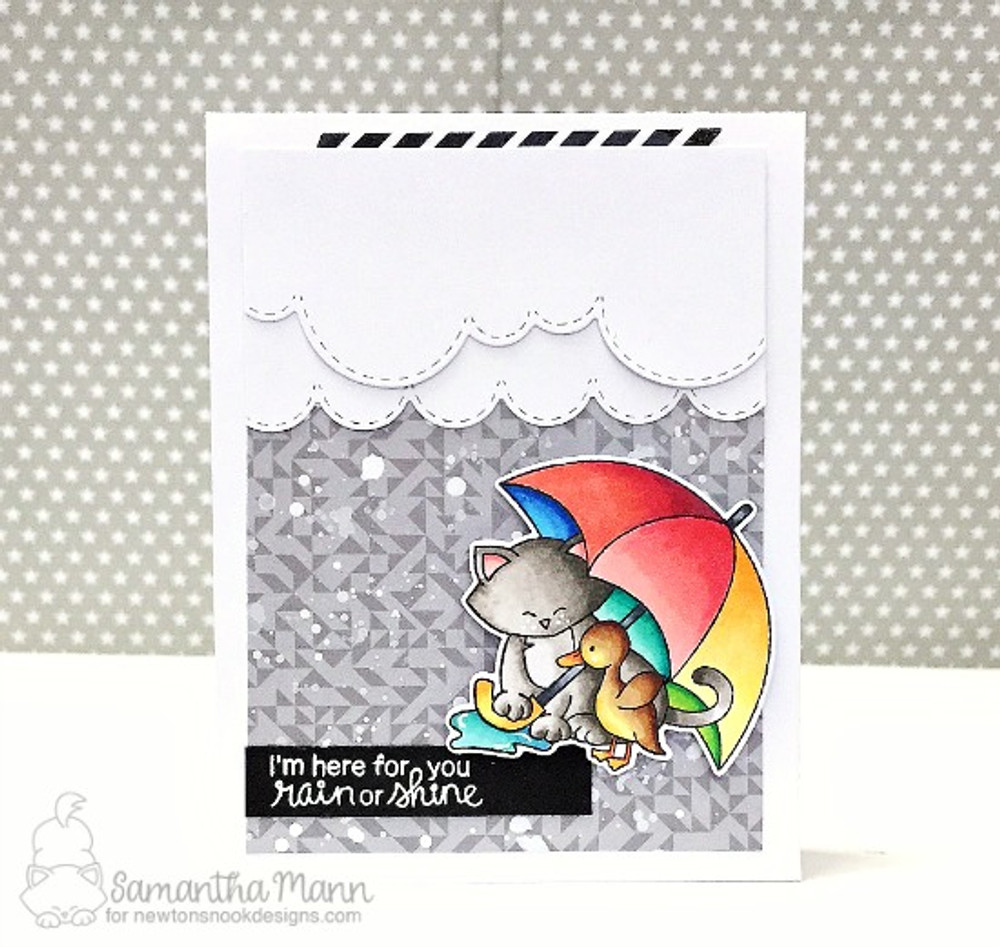 Newton's Rainy Day Stamp Set ©2017 Newton's Nook Designs