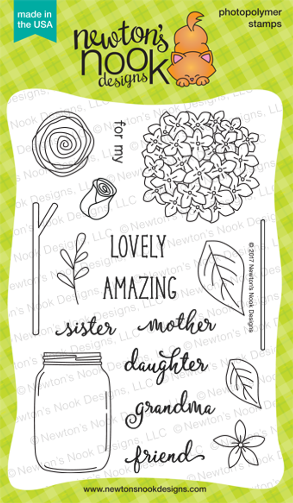 Lovely Blooms  Stamp Set ©2017 Newton's Nook Designs