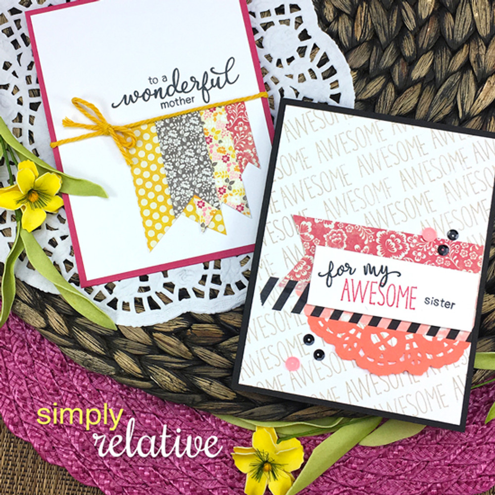 Simply Relative  Stamp Set ©2017 Newton's Nook Designs