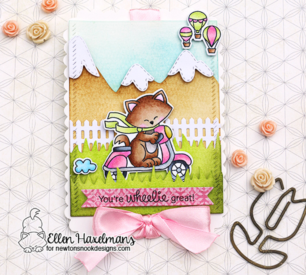 Newton Scoots By Stamp Set ©2017 Newton's Nook Designs