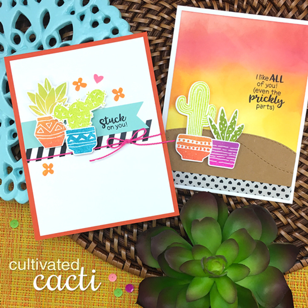 Cultivated Cacti Stamp Set ©2017 Newton's Nook Designs