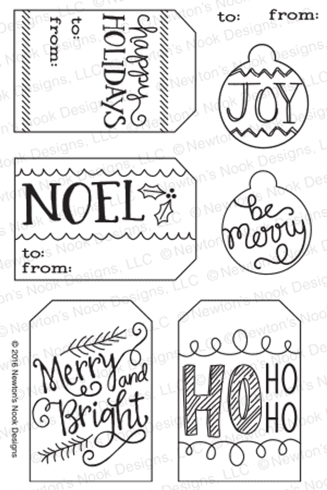 Joyful Tags Stamp Set by Newton's Nook Designs
