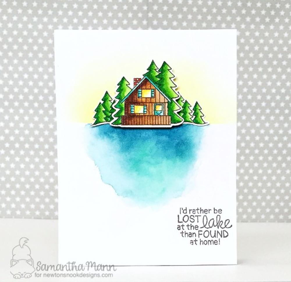 Winston's Lake House Stamp Set ©2017 Newton's Nook Designs