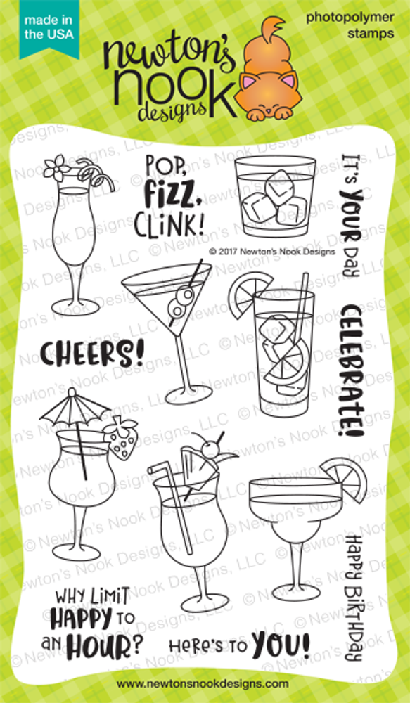 Cocktail Mixer Stamp Set ©2017 Newton's Nook Designs