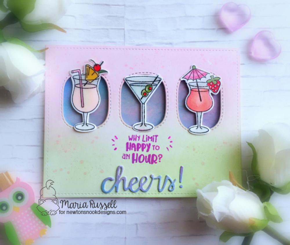 Cocktail Mixer Stamp Set ©2017 Newton's Nook Designs