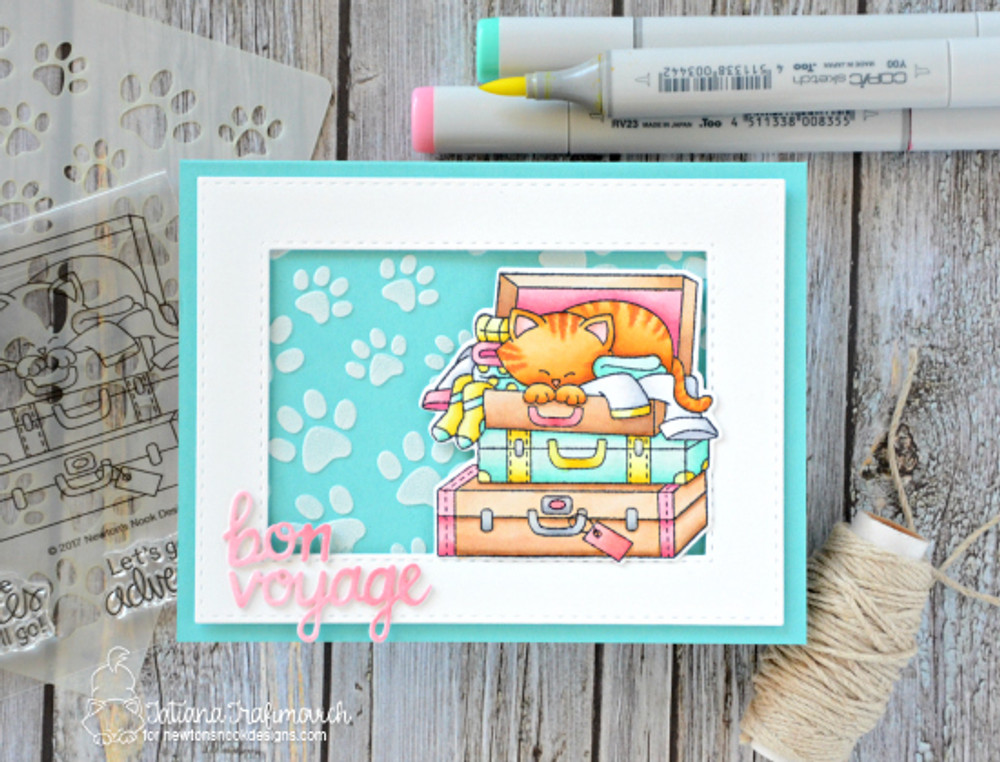 Stow Away Newton Stamp Set ©2017 Newton's Nook Designs
