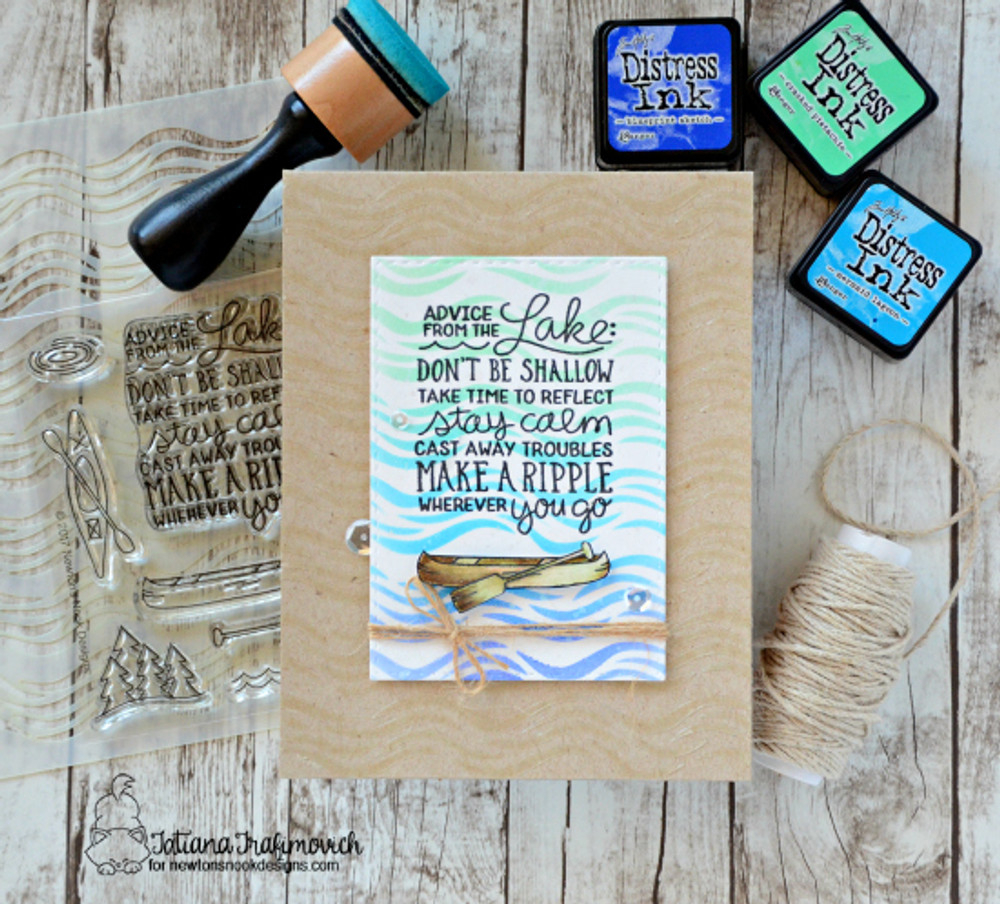 Lake Advice Stamp Set ©2017 Newton's Nook Designs