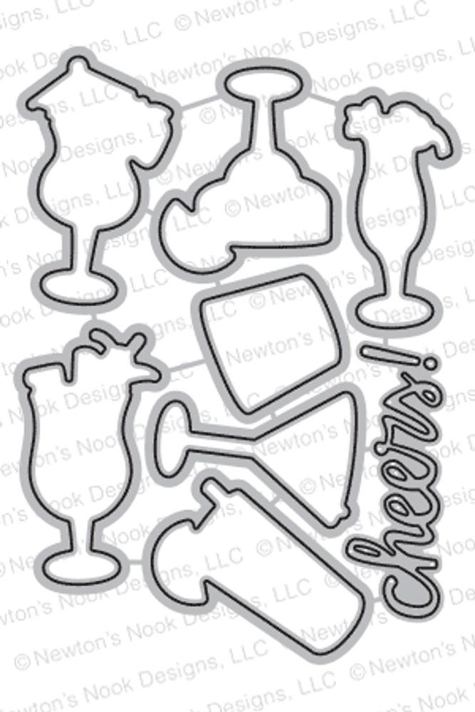 Cocktail Mixer Die Set ©2017 Newton's Nook Designs