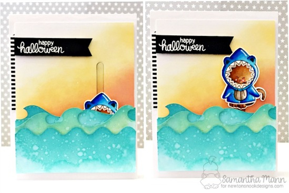 Sea Borders Die Set ©2017 Newton's Nook Designs