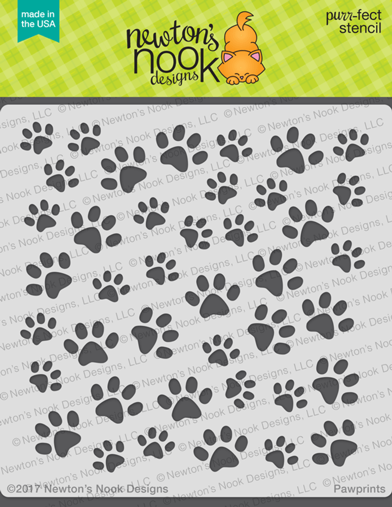Pawprints Stencil ©2017 Newton's Nook Designs