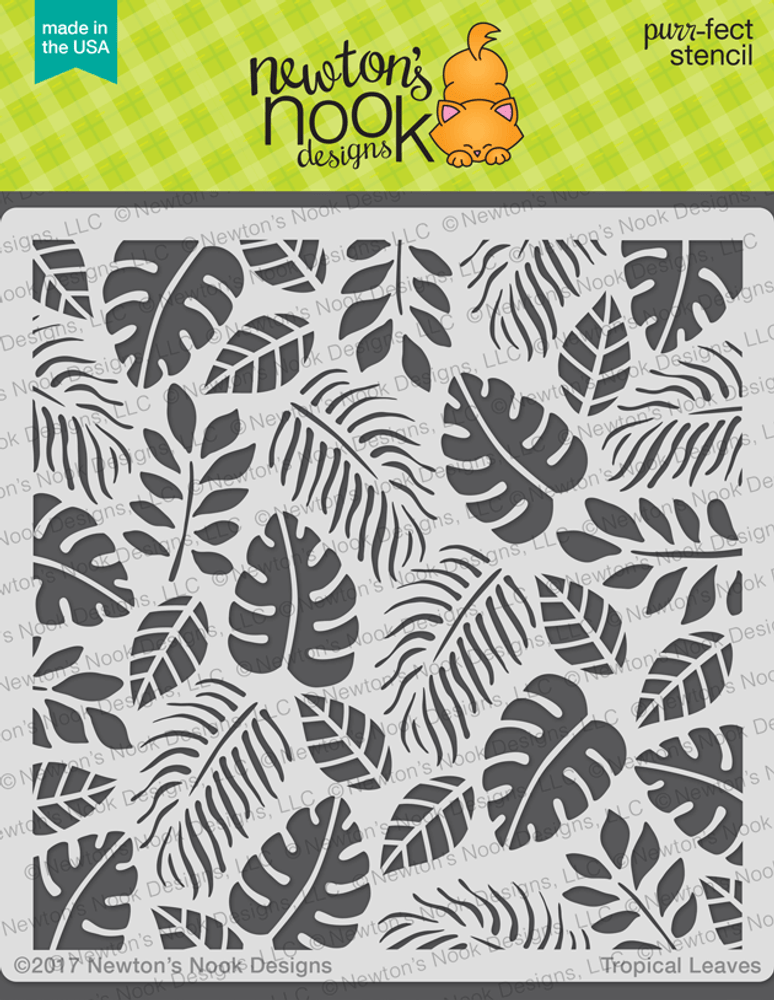Tropical Leaves Stencil Newton S Nook Designs Multi color tropical leaves frame isolated on transparent background. tropical leaves stencil