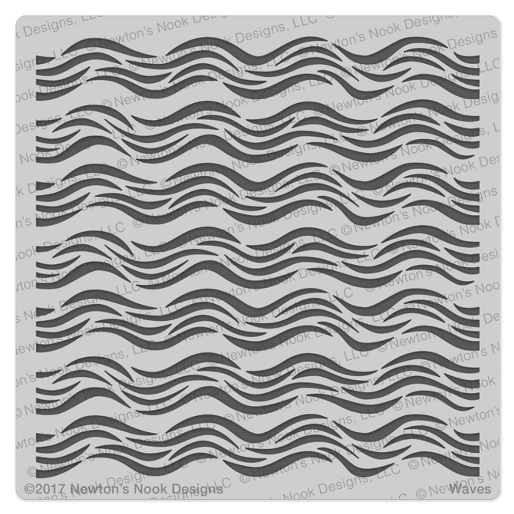 Waves Stencil ©2017 Newton's Nook Designs