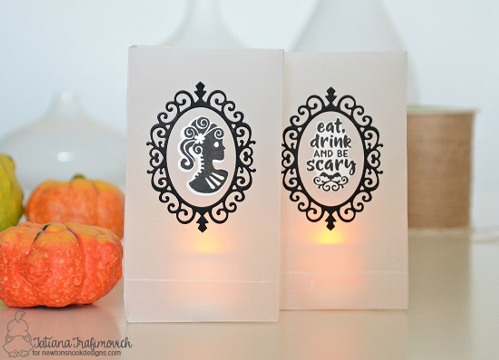 Creepy Cameos Stamp Set ©2017 Newton's Nook Designs