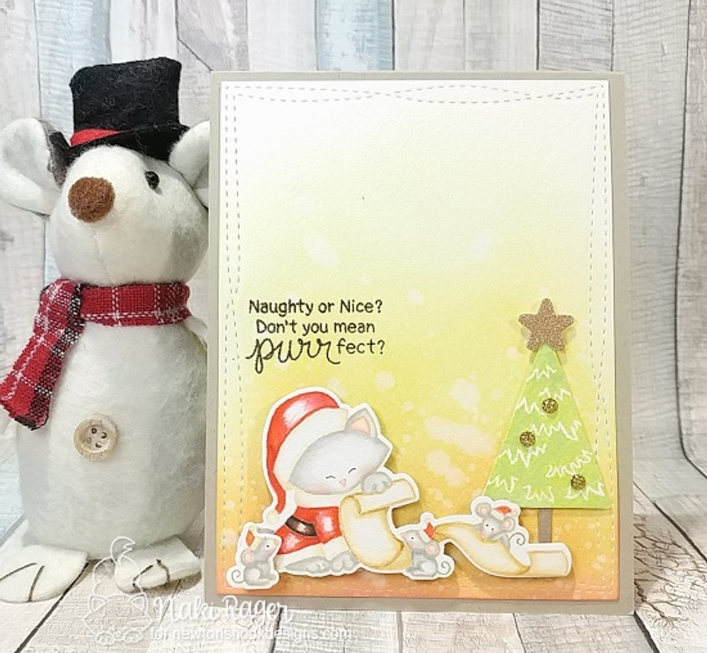 Santa Paws Newton Stamp Set ©2017 Newton's Nook Designs