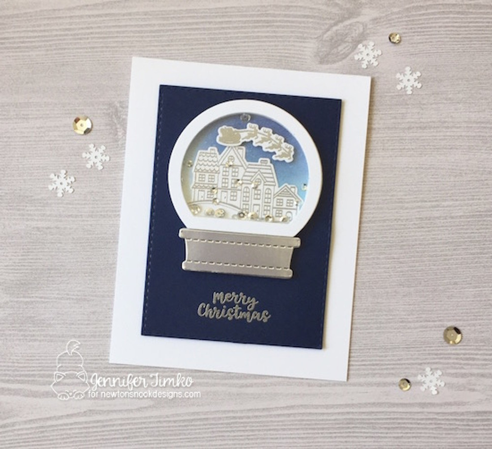 Snow Globe Scenes Stamp Set ©2017 Newton's Nook Designs