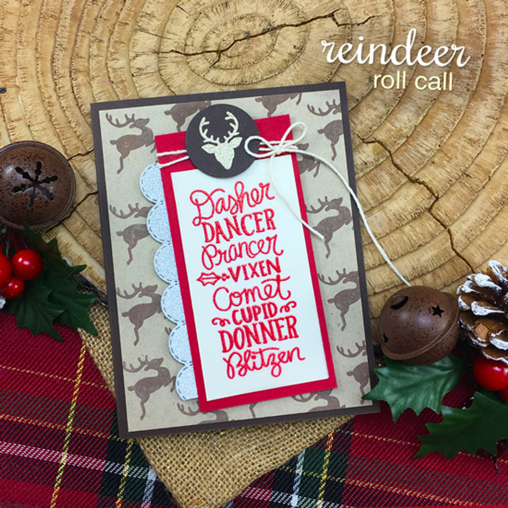 Reindeer Roll Call Stamp Set ©2017 Newton's Nook Designs