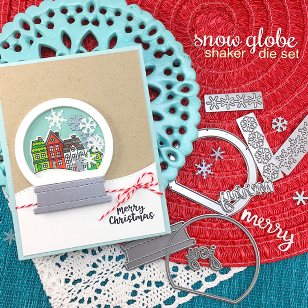 Snow Globe Shaker Die Set ©2017 Newton's Nook Designs