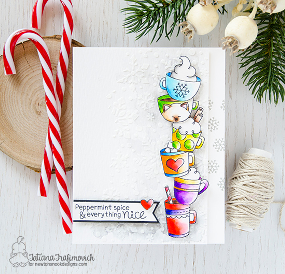 Cup of Cocoa Stamp Set ©2017 Newton's Nook Designs