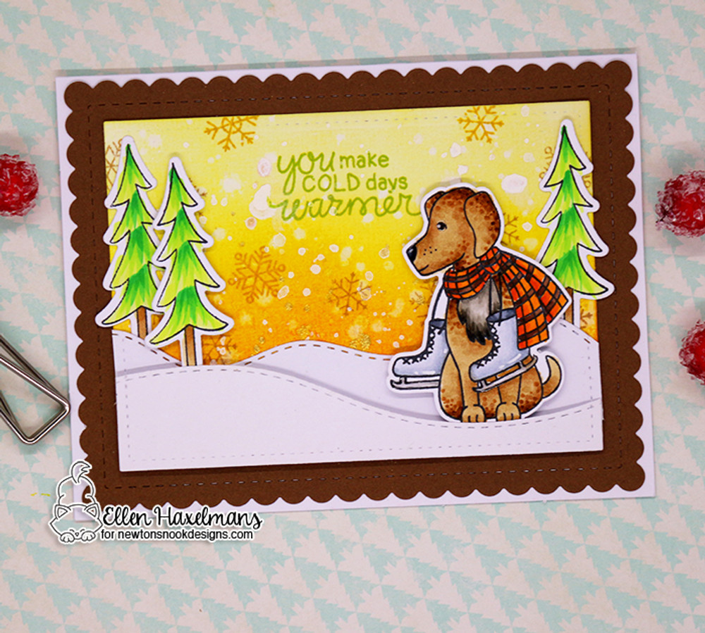 Winter Woofs Stamp Set ©2017 Newton's Nook Designs