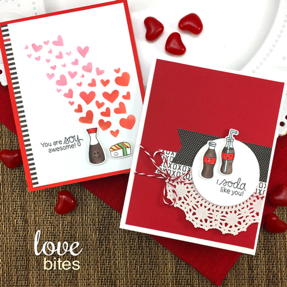 Love Bites Stamp Set ©2018 Newton's Nook Designs