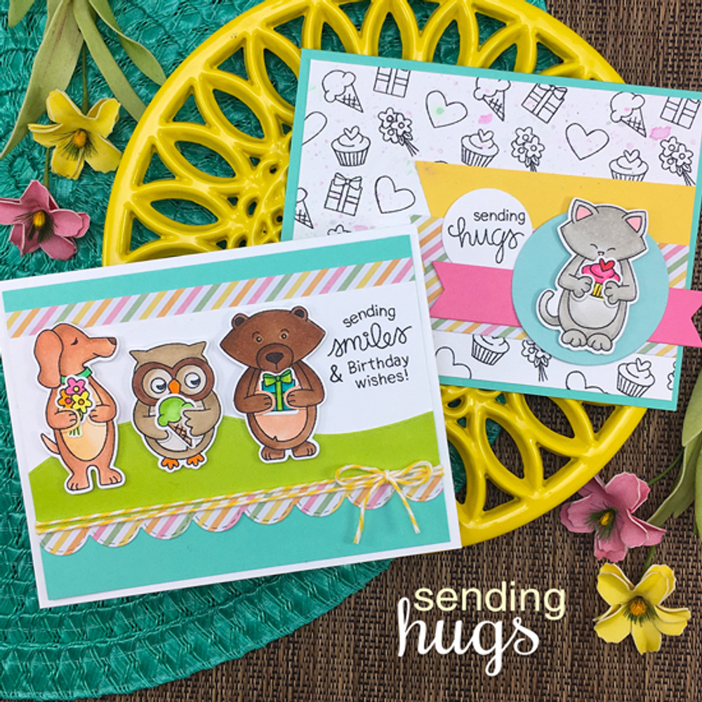 Sending Hugs Stamp Set ©2018 Newton's Nook Designs