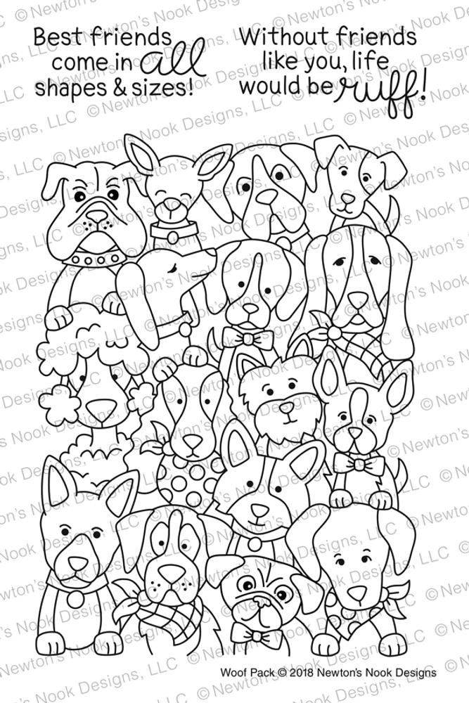 Woof Pack Stamp Set ©2018 Newton's Nook Designs