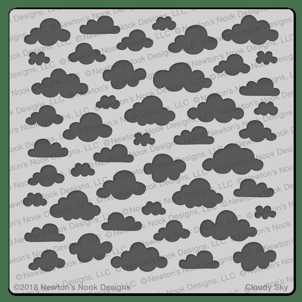 Cloudy Sky Stencil ©2018 Newton's Nook Designs