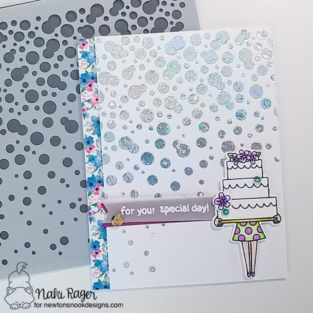 Bubbly Stencil ©2018 Newton's Nook Designs