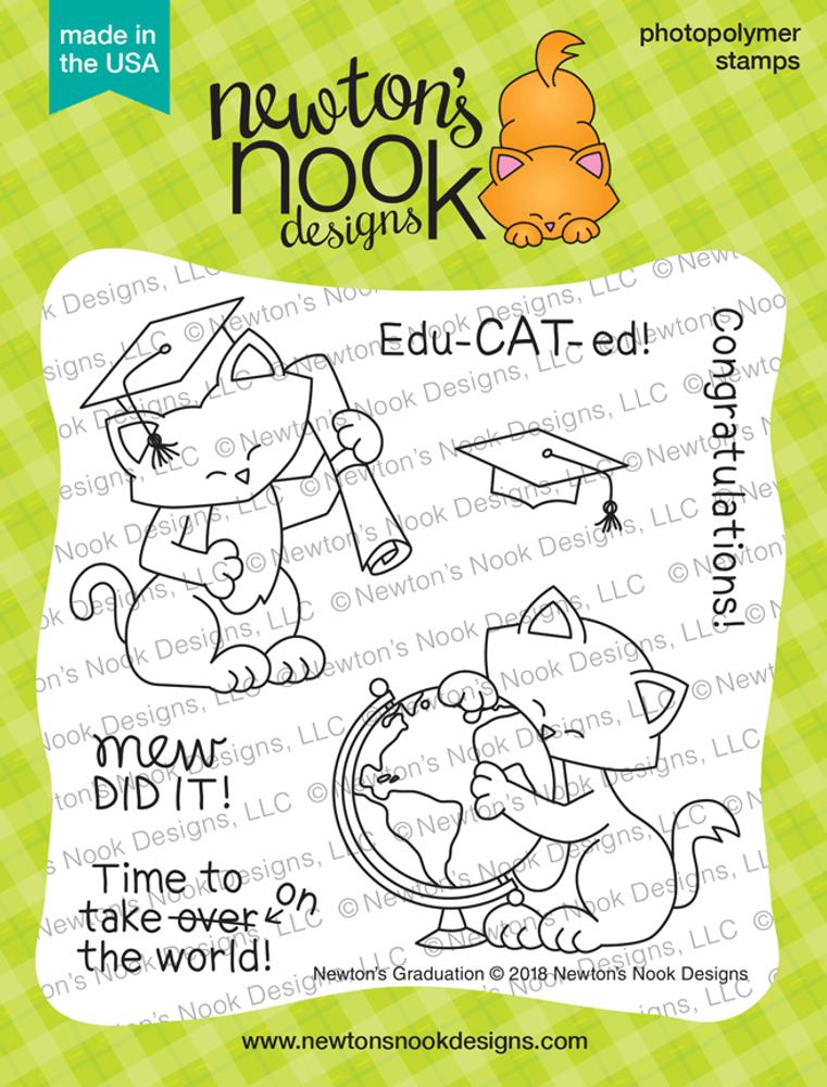 Newton's Graduation Stamp Set ©2018 Newton's Nook Designs