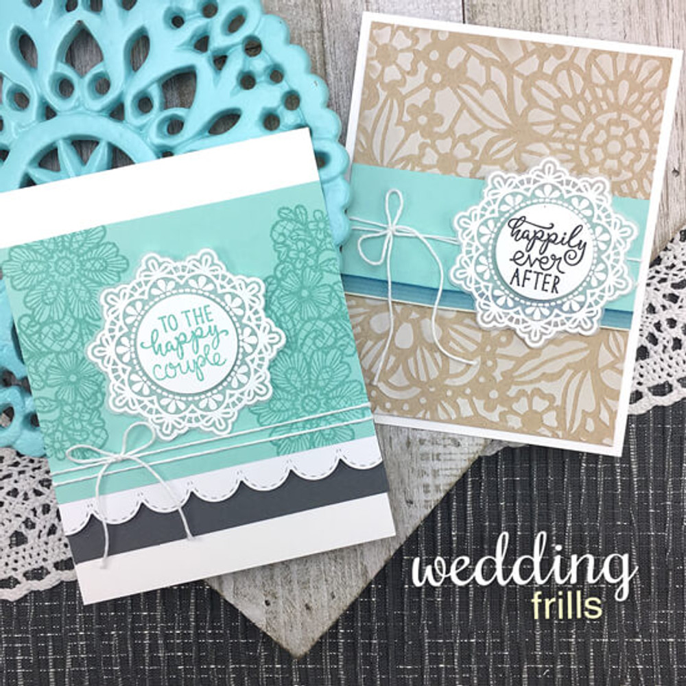 Wedding Frills Stamp Set ©2018 Newton's Nook Designs