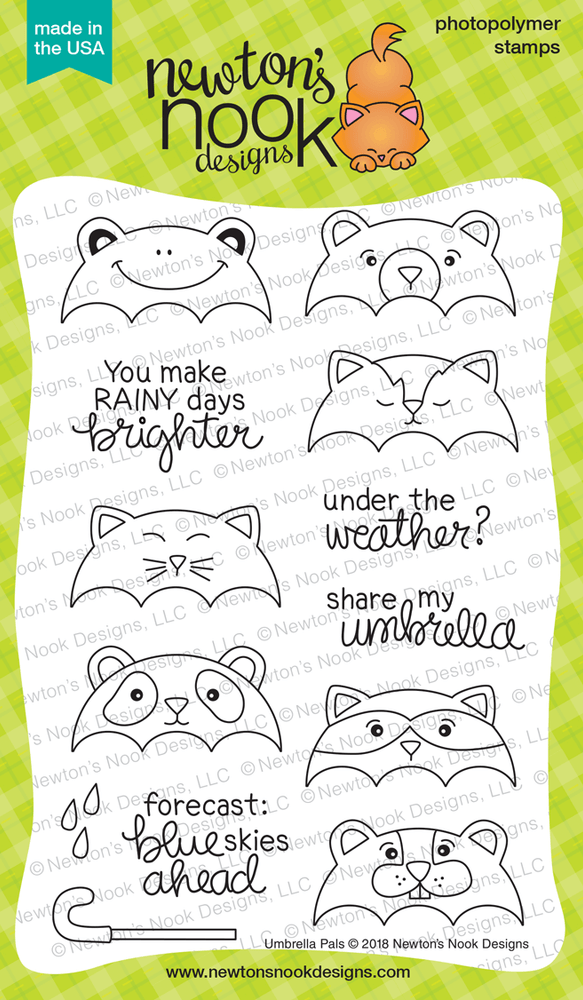 Umbrella Pals Stamp Set ©2018 Newton's Nook Designs